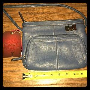 NWT Tignanello blue crossbody organizer purse